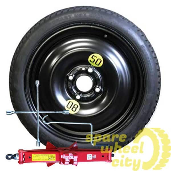 "VAUXHALL CORSA ( F ) 2020 - PRESENT DAY ( 4 STUD ) 16"" SPACE SAVER SPARE WHEEL KIT 1"