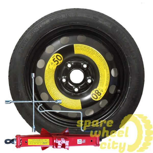"SEAT LEON  2005 - 2012  16"" SPACE SAVER SPARE WHEEL  KIT 1"